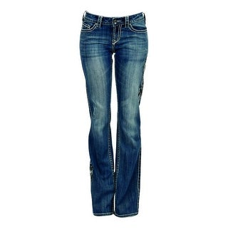 Cowgirl Tuff Western Denim Jeans Womens Dreamer Stitching Med