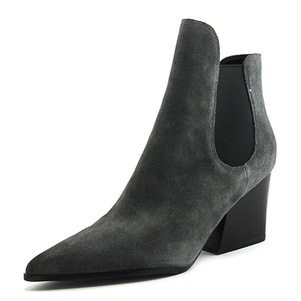 cd31b73ad Shop Kendall + Kylie Finley Women Pointed Toe Suede Gray Ankle Boot ...
