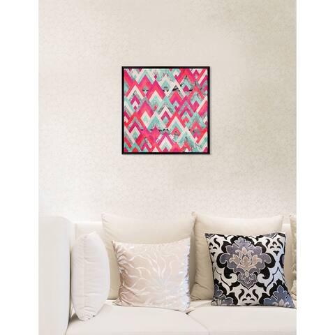 Oliver Gal 'Geometric Fun II' Abstract Framed Wall Art Print