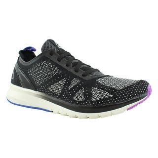 062edf2c1cf09f Reebok Womens Print Smooth Clip Ultraknit Black Running Shoes Size 8.5