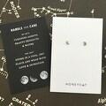Honeycat Mini Moon Stud Earrings (Delicate Jewelry) - Thumbnail 3