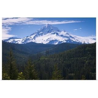 """""""USA, Oregon, View of Mount Hood"""" Poster Print"""