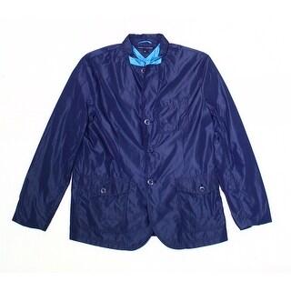 Tommy Hilfiger NEW Navy Blue Mens Size Large L Button-Zip Jacket