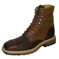 Twisted X Work Boots Mens Lite Cowboy Steel Toe Lacer Rust