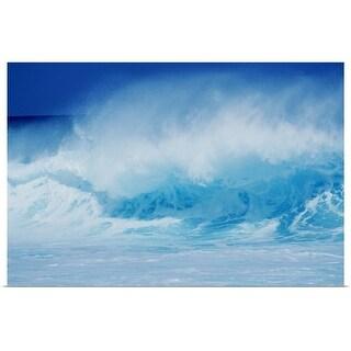 """""""Spraying waves"""" Poster Print"""