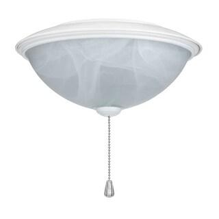NuTone LK30AWH Contemporary Bowl Light Kit Alabaster Glass
