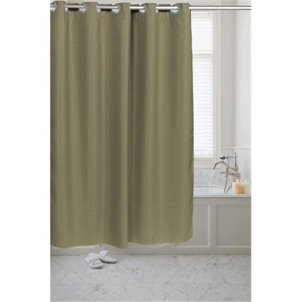 Shop SCPRE WAF 42 Pre Hooked Waffle Weave Fabric Shower Curtain Sage