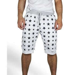 Star Printed Jogger Cropped Shorts (Option: L)