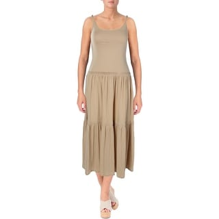 Ralph Lauren Womens Casual Dress Maxi Tiered