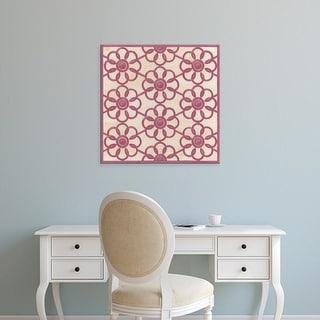 Easy Art Prints June Erica Vess's 'Floral Trellis IV' Premium Canvas Art