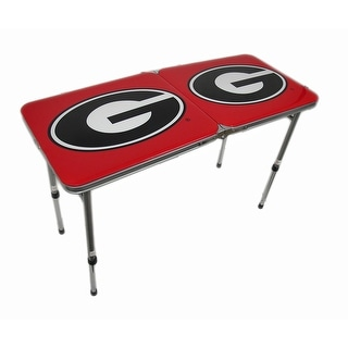 University of Georgia Bulldogs Folding Aluminum Tailgate Table - Multicolored