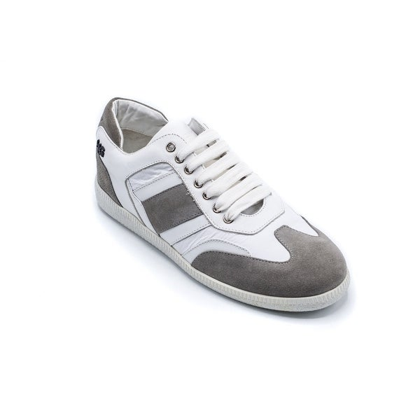 639649f0a0d Shop Givenchy mens Grey White Runner Leather Active Sneakers - Free ...