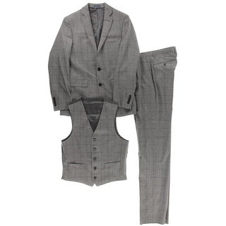 Ryan Seacrest Mens Wool 3PC Two-Button Suit - 36R