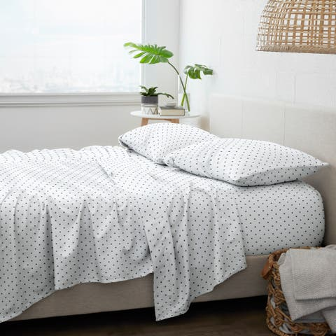 Becky Cameron Dots Pattern 4 Piece Bed Sheets Set