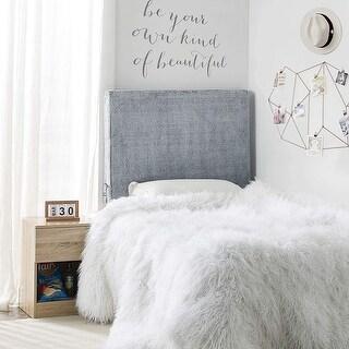 University Transitional Cushioned Dorm Headboard - Chunky Bunny - Shaded Gray