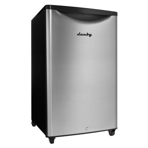 """Danby DAR044A6O 21""""W 4.4 Cu. Ft. Energy Star Free Standing Compact Outdoor Refrigerator with LED Interior Lighting & CanStor"""
