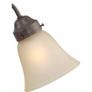 """Volume Lighting GS-161 4.75"""" Height Sepia Glass Bell Ceiling Fan Light Kit Shade"""