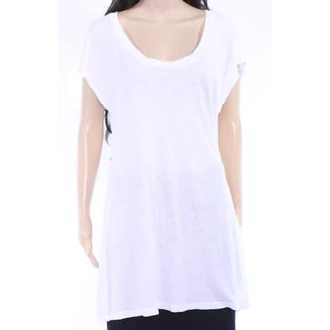 Lamade Womens Top White Size Small S Tunic Open Twist Back Stretch