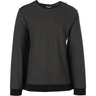Calvin Klein Mens Jacquard Crew Neck Crew Sweatshirt - S