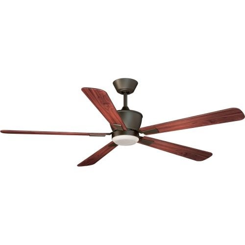 """Vaxcel Lighting F0015 Geneva 52"""" 5 Blade DC Motor Indoor Ceiling Fan - Remote Control, Light Kit and Blades Included"""