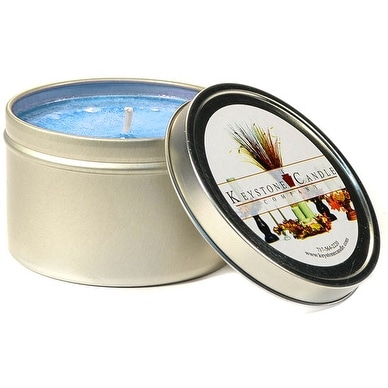 1 Pc Tin Candles Ocean Breeze Scented Tins 4 oz 2.5 in. diameter x 1.75 in. tall