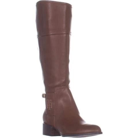 Tommy Hilfiger Womens Merritt Leather Pointed Toe Mid-Calf Fashion Boots