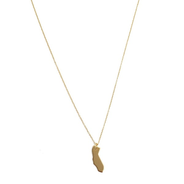 Honeycat Mini California State Charm Necklace (Delicate Jewelry)
