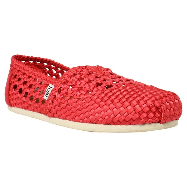 b38d66e0532 Shop TOMS Womens 10007571 7 Red Loafers Size 7 - Free Shipping On ...