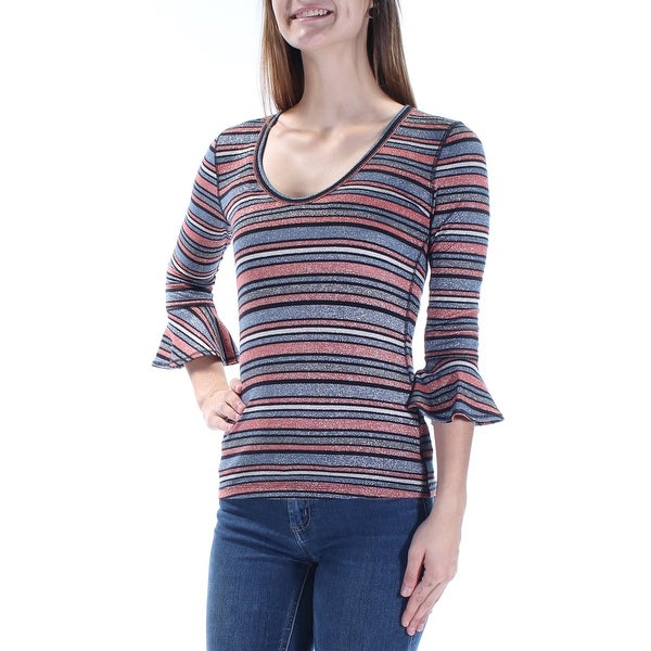 20cf73526dd Shop Womens Black Striped 3 4 Sleeve Scoop Neck Casual Top Size S - On Sale  - Free Shipping On Orders Over  45 - Overstock.com - 21265063