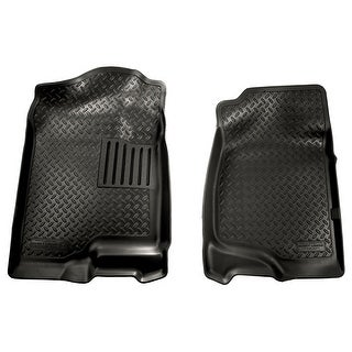 Husky Classic 2007-2013 Cadillac Escalade EXT 2nd Row Bench/Bucket Black Front Floor Mats/Liners