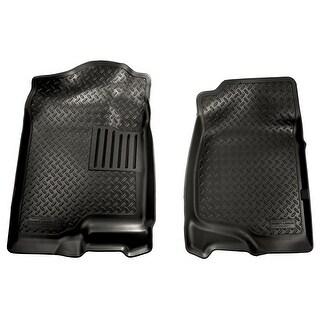 Husky Classic 2007-2014 Cadillac Escalade/ESV 2nd Row Bench/Bucket Black Front Floor Mats/Liners