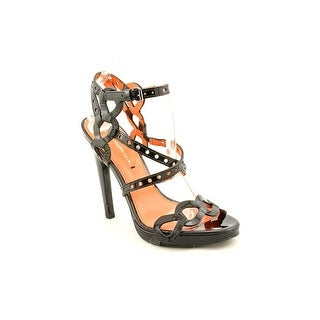 Via Spiga Pacifica Women Open Toe Patent Leather Platform Sandal