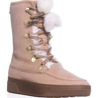 MICHAEL Michael Kors Juno Lace Up Lined Snow Boots, Dark Khaki - 6 us / 36 eu