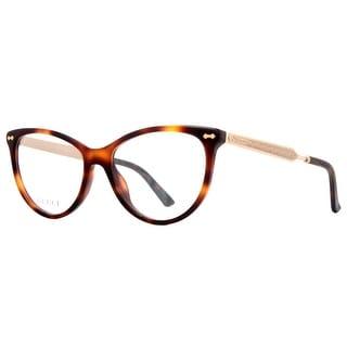 Gucci GG 3818 CRX Dark Havana Brown/Gold Women's Cat eye Eyeglasses 53mm - dark havana brown - 53mm-18mm-140mm