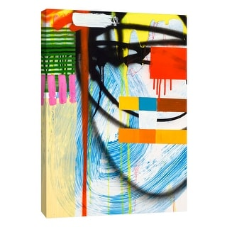 "PTM Images 9-108846  PTM Canvas Collection 10"" x 8"" - ""Lenticular B"" Giclee Abstract Art Print on Canvas"