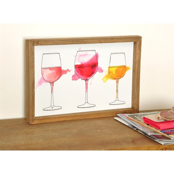 Watercolor Wine Wood Framed Art Print Overstock 31918355