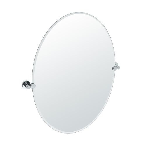 Gatco 4689LG Channel Large Oval Beveled Tilting Wall Mirror