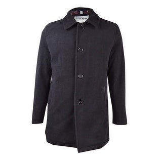 Cole Haan Men's Reversible Wool Blend Car Coat (M, Black)