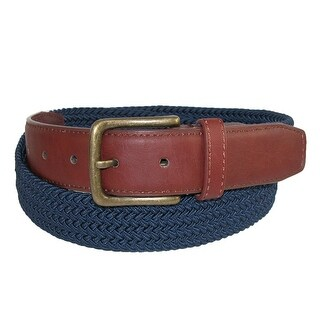 CTM® Men's Elastic Braided 1 1/4 Inch Golf Belt