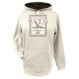 John Deere Western Sweatshirt Women Fleece Logo Hoodie Ivory 23025283