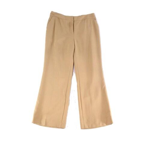 Akris NEW Beige Womens Size 10 Flat-Front Dress Pants Wool Stretch
