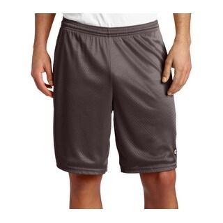 Champion NEW Gray Mens Size Medium M Perforated Drawstring Athletic Shorts 041