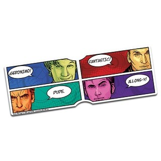 Doctor Who 4 Doctors Catchprases Travel Pass Holder - One Size Fits most