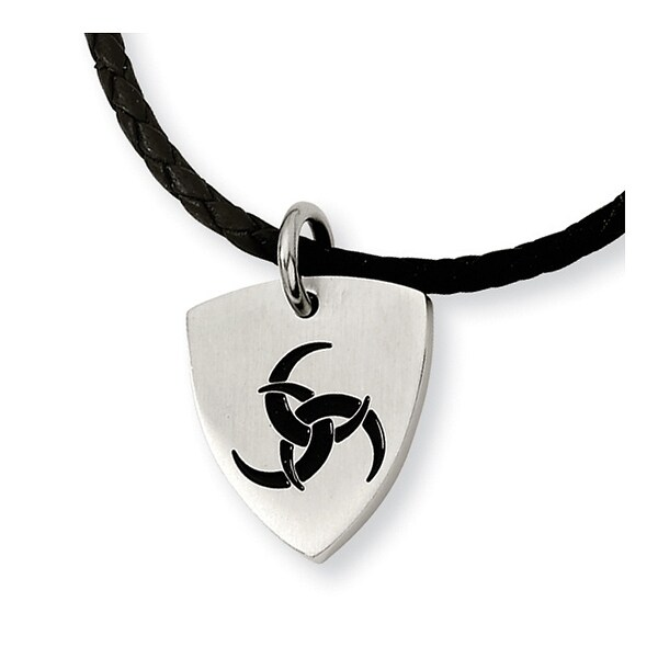 Chisel Stainless Steel Enameled Pendant Necklace - 18 in