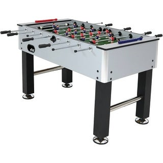 Sunnydaze Metallic Foosball Arcade Soccer Sports Table - 55-Inch