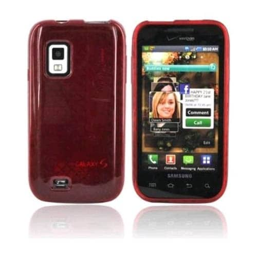 shop samsung fascinate sch i500 high gloss silicone case red bulk rh overstock com Samsung Captivate I897 Samsung Galaxy I500