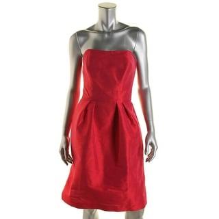 Alfred Sung Womens Shantung Strapless Cocktail Dress - 2