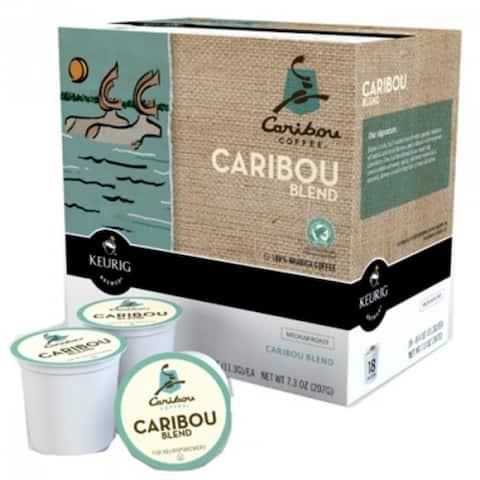 Keurig 00992 Caribou Coffee Blend K-Cups, 18-Count