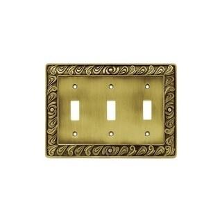 Franklin Brass 64055 Paisley Series Triple Wall Plate