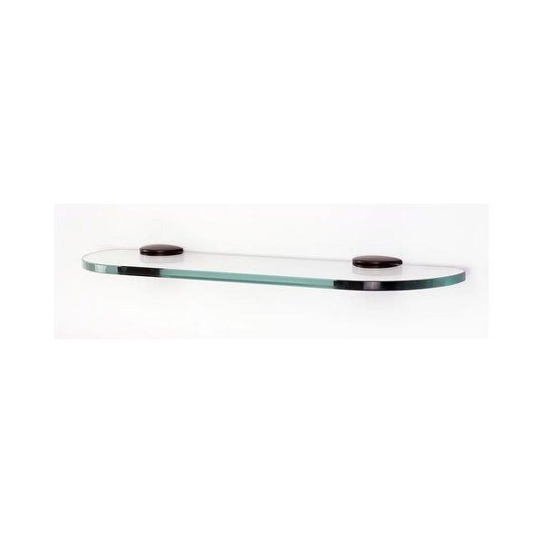 "Alno A8950-18 Euro Series 18"" Wide Glass Shelf with Brass Mounting Brackets"